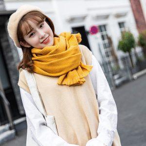 Khăn choàng DẠ HÀN QUỐC VÀNG DA104