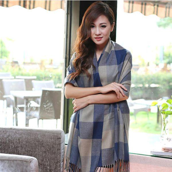 khăn choàng len acrylic LE103