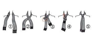 kiểu thắt khăn giả cà vạt