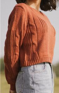 Áo len croptop