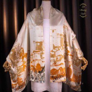 khăn lụa chợ bến thành vàng