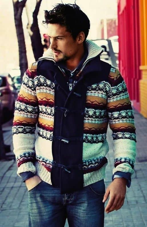Mix áo len với đồ