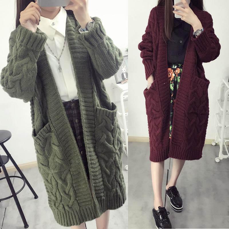 Áo len cardigan ngoại cỡ