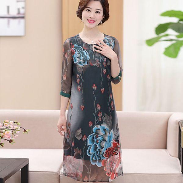 Đầm suông trung niên đẹp