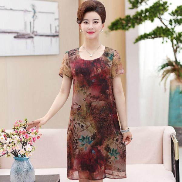 Đầm suông trung niên cao cấp