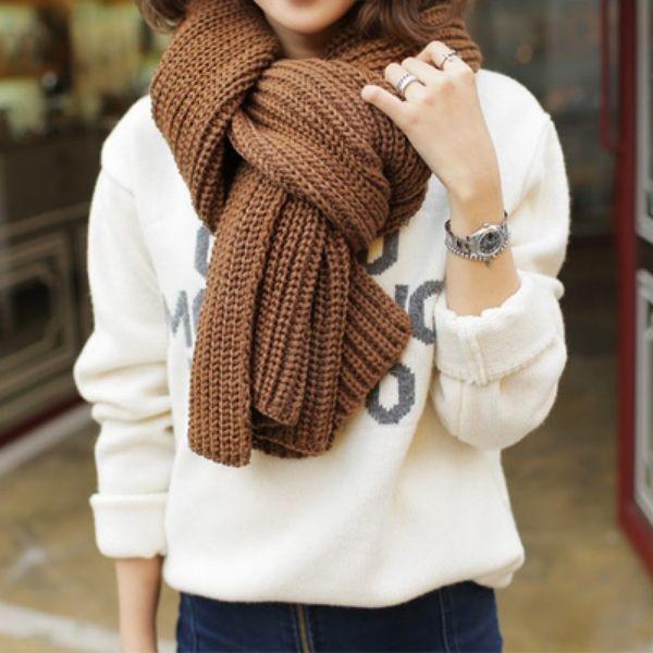 Mix đồ cùng khăn len