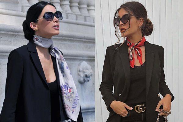 High fashion trong trang phục khăn choàng cổ diện cùng blazer